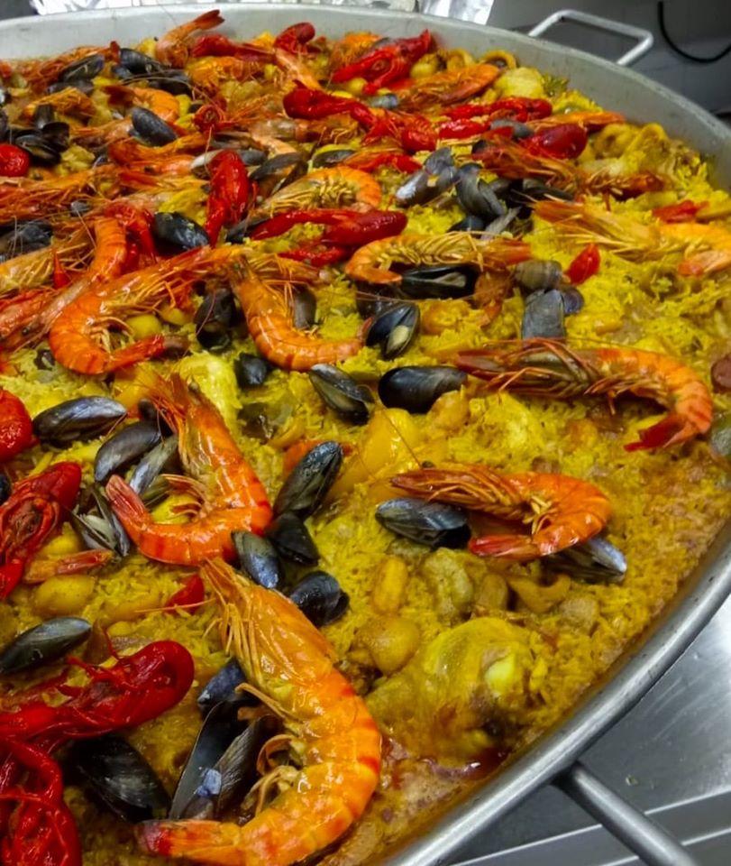 Paella royale fruits de mer le point gourmand