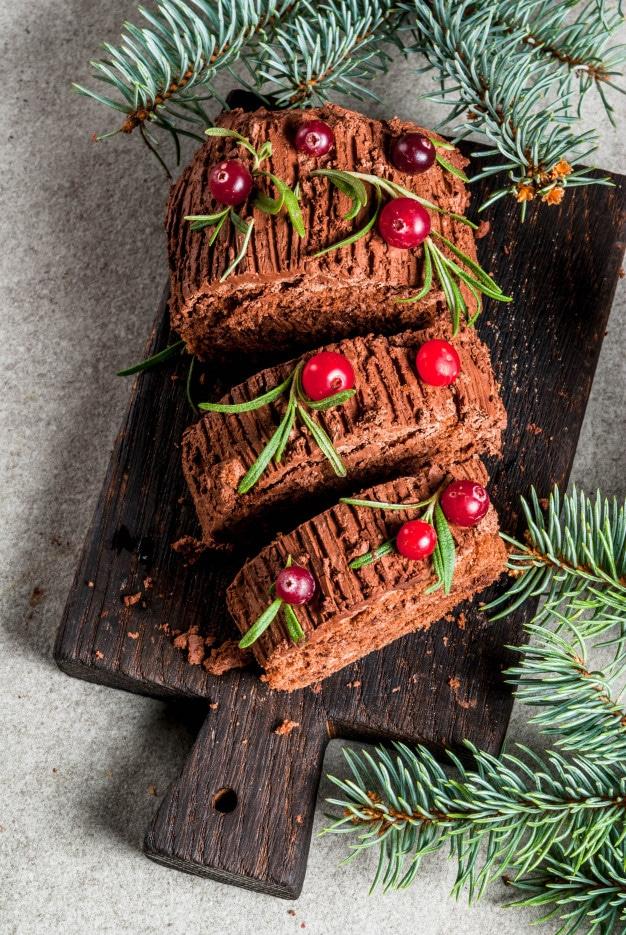 Noël pâtisserie bûche noel le point gourmand