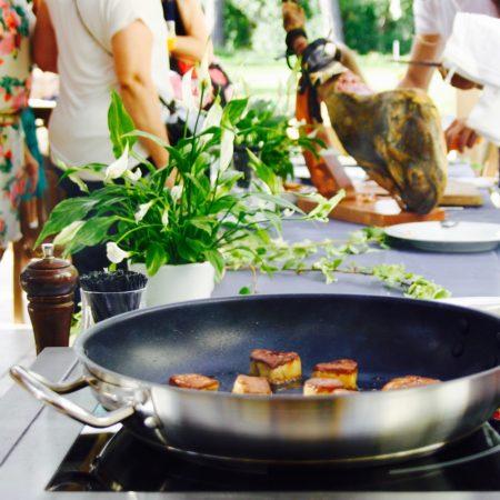 traiteur show cooking: foie gras poêlé
