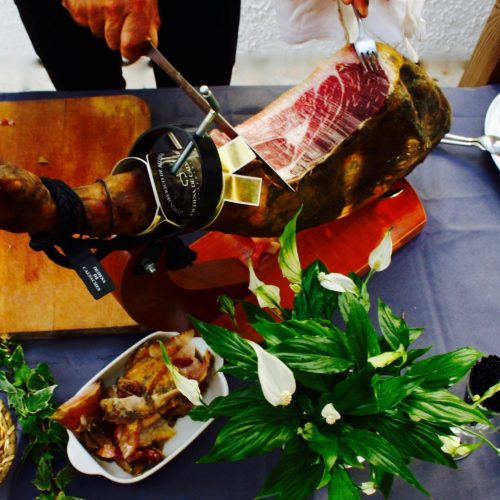 jambon pata negra show cooking mariage